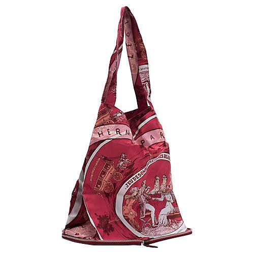 Hermès Burgundy Silky Pop Chevre Bag