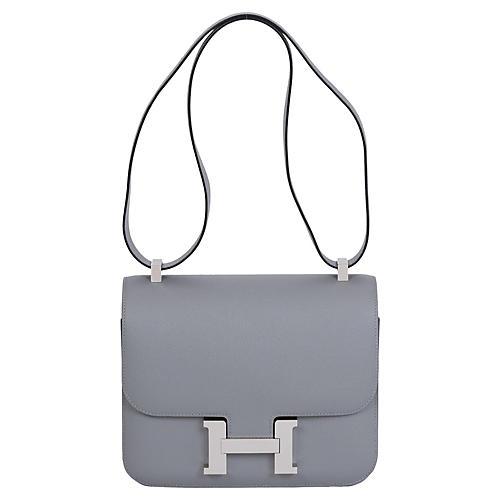 Hermès 24cm Gris Mouette Constance Bag