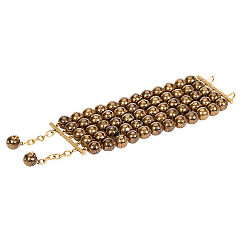 Chanel Multi-Strand Bronze Bracelet