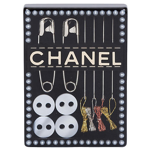 Chanel Sewing Kit Pin