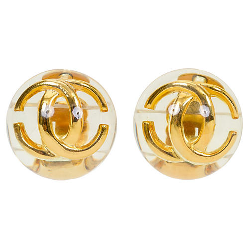 Chanel Lucite CC Earrings