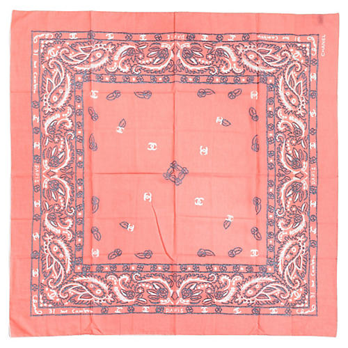 Chanel Oversize Cotton Bandana Scarf