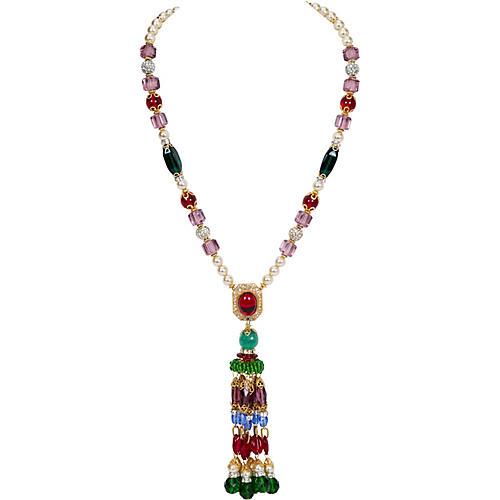 Vrba Pearl Fringe Necklace