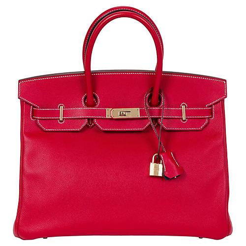 Hermès 35cm Rouge Casaque Candy Birkin