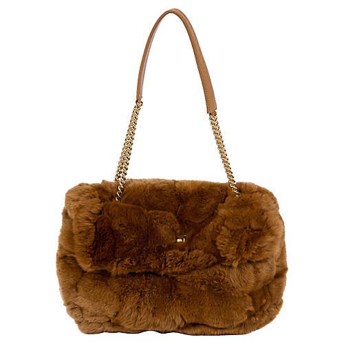 Chanel Chinchilla Camel Flap Bag