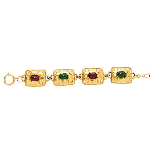 1970s Chanel Square Gripoix Bracelet