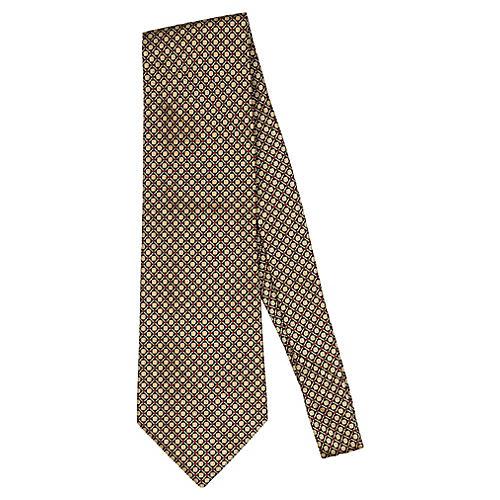 Blumarine Black & Gold Silk Tie