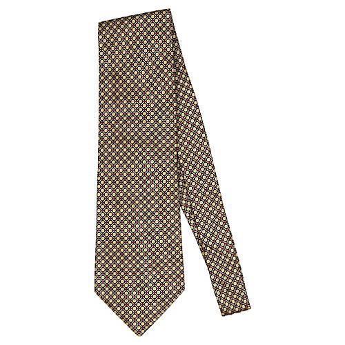 Blumarine Black & Gold Silk Tie
