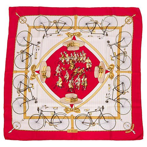 Hermès Les Becanes Silk Scarf