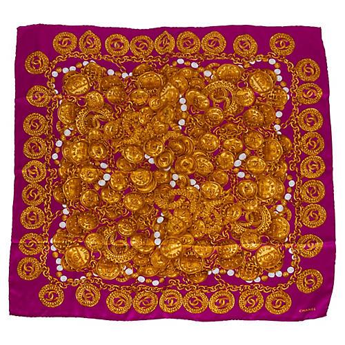 Chanel Vibrant Rue Cambon Silk Scarf