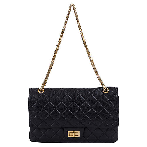 Chanel Distressed Black Reissue Jumbo