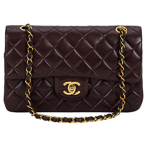 Chanel Brown Classic Double-Flap Bag