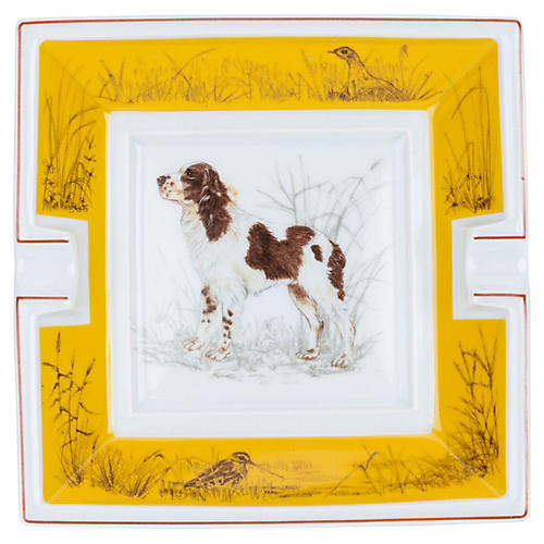 Hermès English Springer Spaniel Ashtray