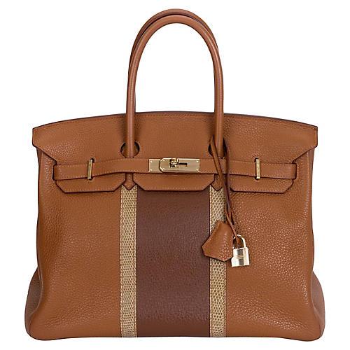 3be2314b4b ... clearance hermès 35cm gold marron club birkin bb20f 971d5