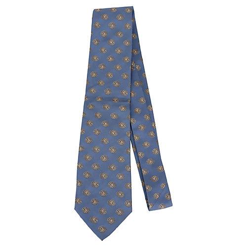 Hermès Blue Silk Swirl Tie