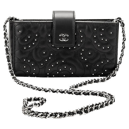 Chanel Camellia Studs Crossbody Bag