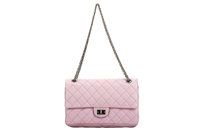 Chanel Pink Reissue Medium Double Flap