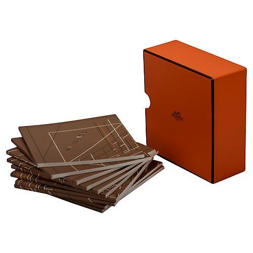Hermès Orange Box of 10 Notepads