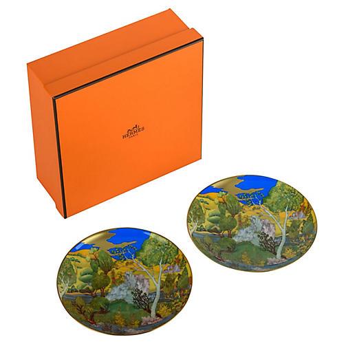 Hermès Cheval d'Orient Plates, S/2