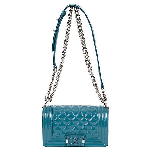 ef0d441a7916 Chanel Cerulean Blue Small Boy Bag