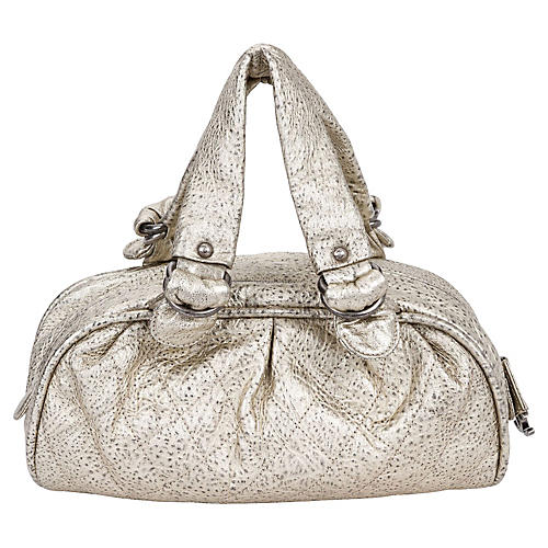 Chanel Le Marais Platinum Leather Bag
