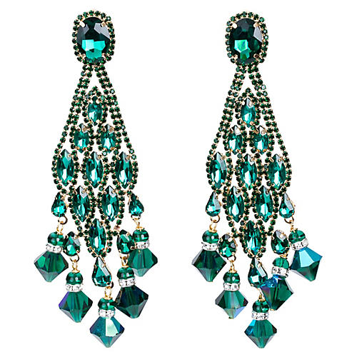 Vrba Rhinestone Drop Earrings