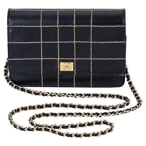 Chanel Black Contrast Cross-Body Bag