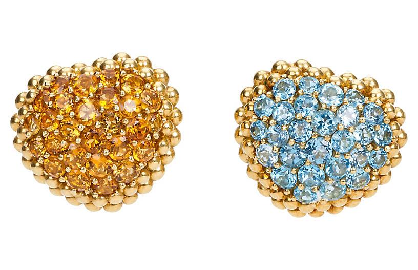 Gioielmoda Topaz & Citrine Earrings