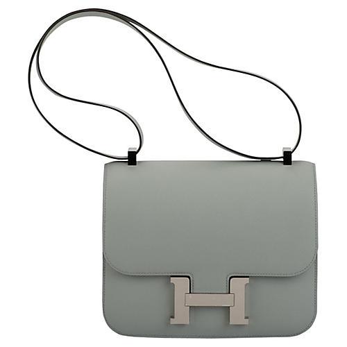 Hermès Blue Glacier Epsom Constance Bag