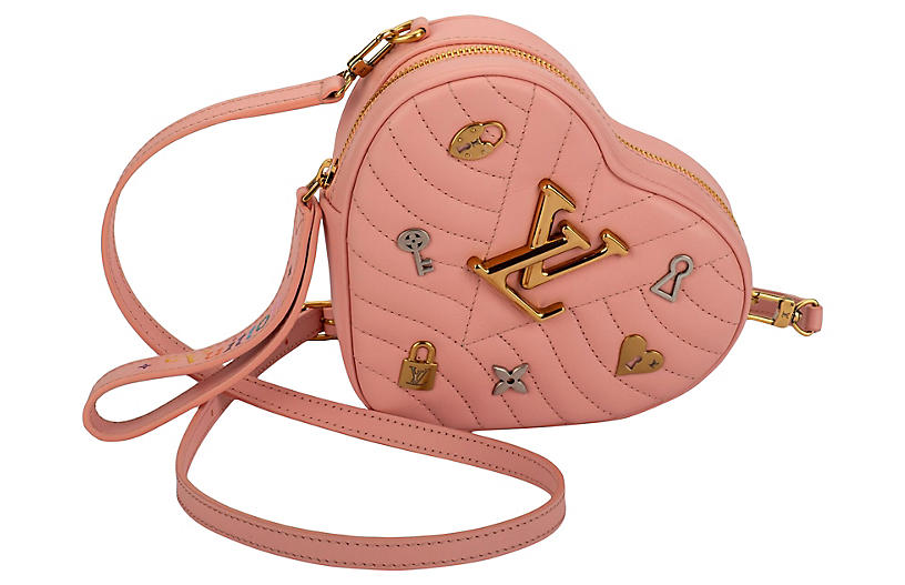 Louis Vuitton Pink Heart Clutch