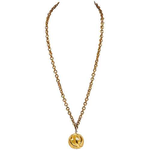 Chanel Lucite Sphere Necklace