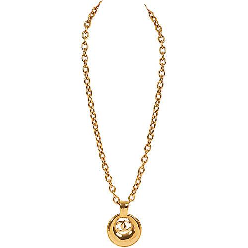 Chanel Door Knocker Pendant Necklace