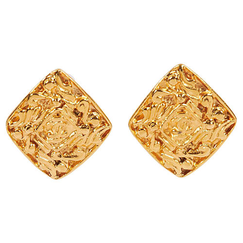 Chanel Goldtone Earrings