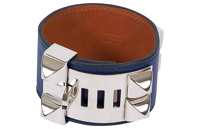 Hermès CDC Blue Palladium Bracelet