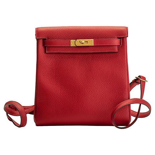 Hermès Rouge Kelly Backpack