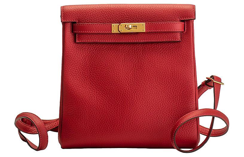 Hermès Rouge Kelly Backpack