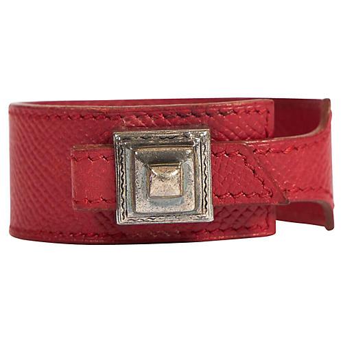 Hermès Red Epsom Tuareg Bracelet