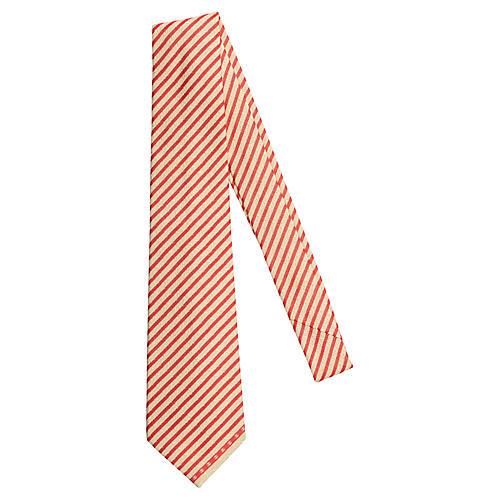 Chanel New Silk Red & Cream Tie