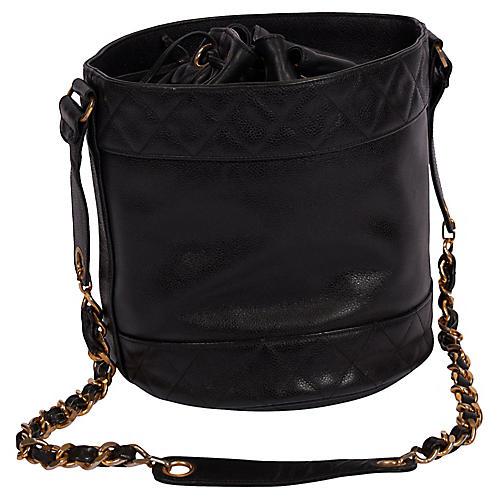 Chanel 90's Black Iconic Bucket Bag