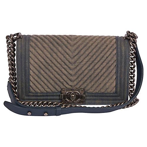 Chanel Small 2 Tone Denim Boy Bag