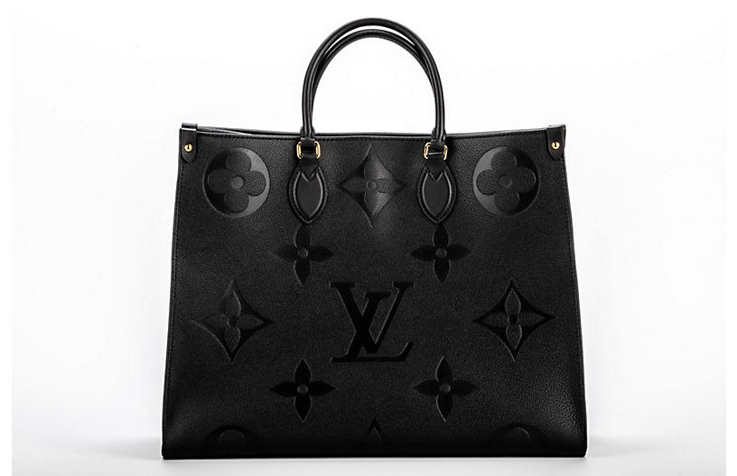 Vuitton Black Logo On the Go GM