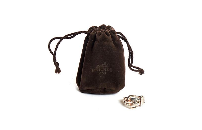 Hermès Silver Buckle Vintage Ring