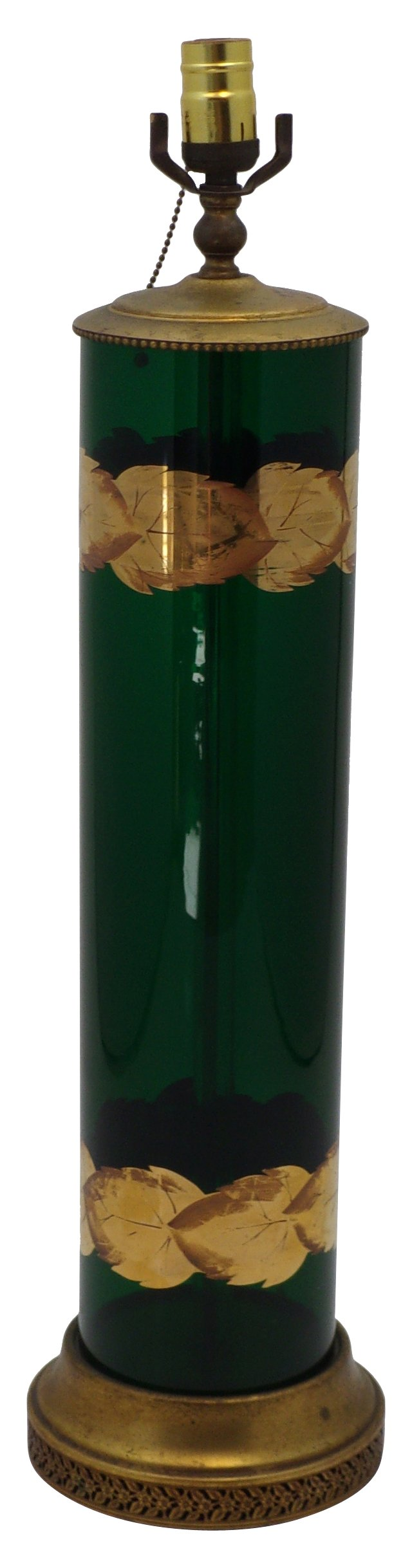 Emerald Green Glass Lamp