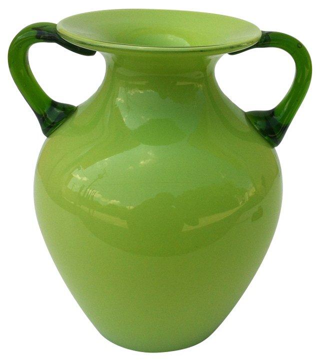 Murano Handled Vase