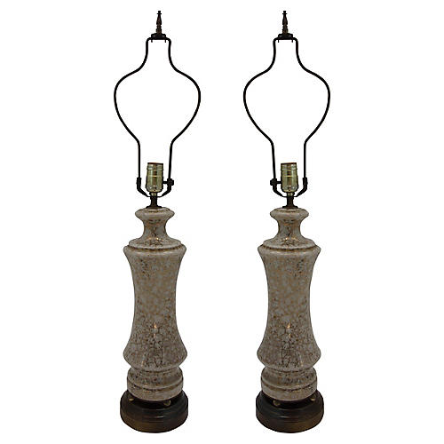 Parcel Gilt Table Lamps, Pair