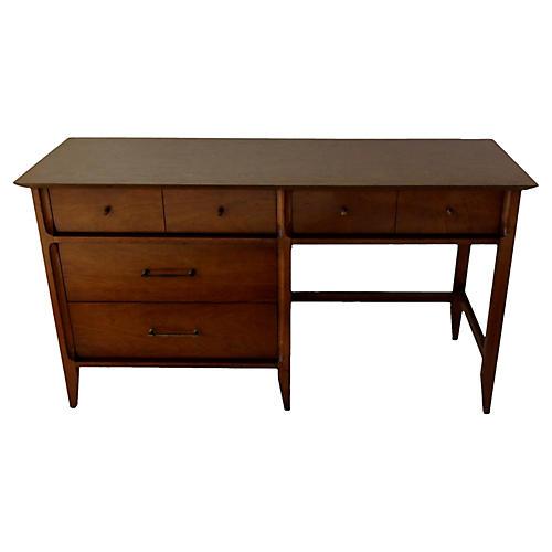Midcentury 4-Drawer Walnut Desk