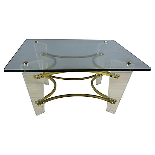 Charles Hollis Jones Lucite Coffee Table