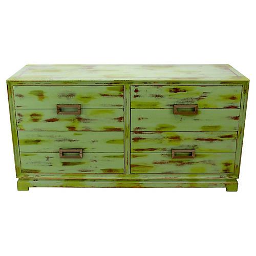 Midcentury Green 8-Drawer Dresser