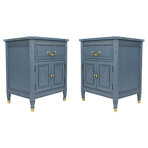 Neoclassical-Style Nightstands, Pair