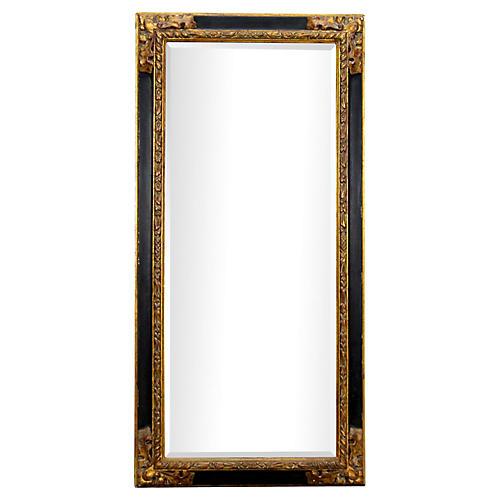Hollywood Regency Black & Gold Mirror